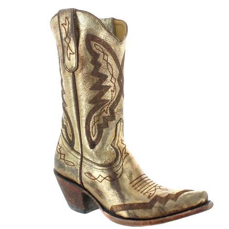 Old Gringo Peyton Gold Metallic Ladies Boots