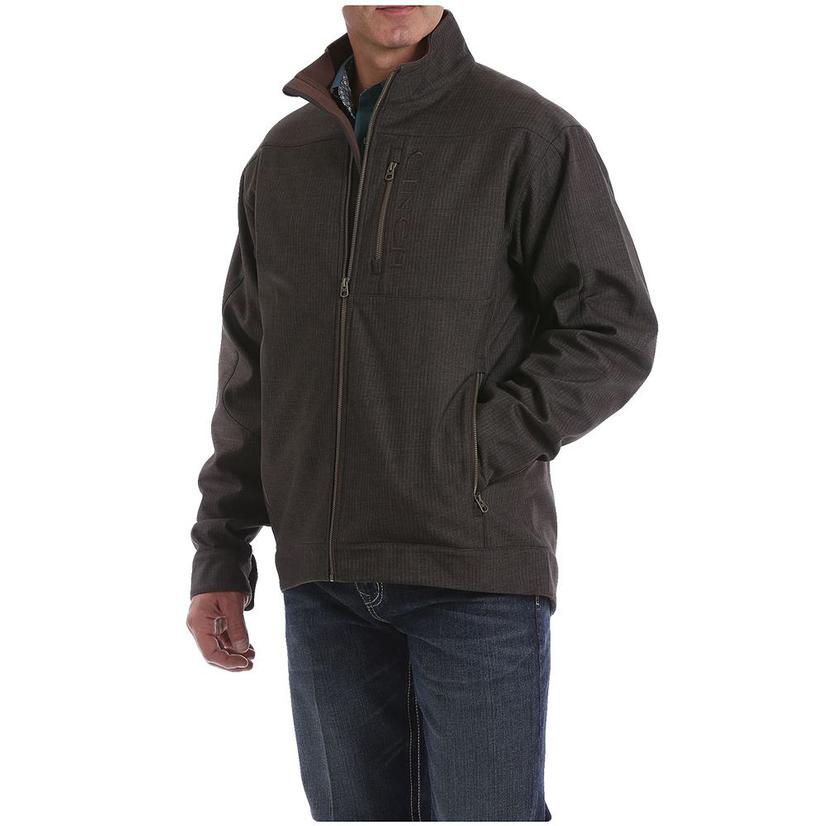 Cinch Brown Textured Bonded Men's Conceal Carry Jacket