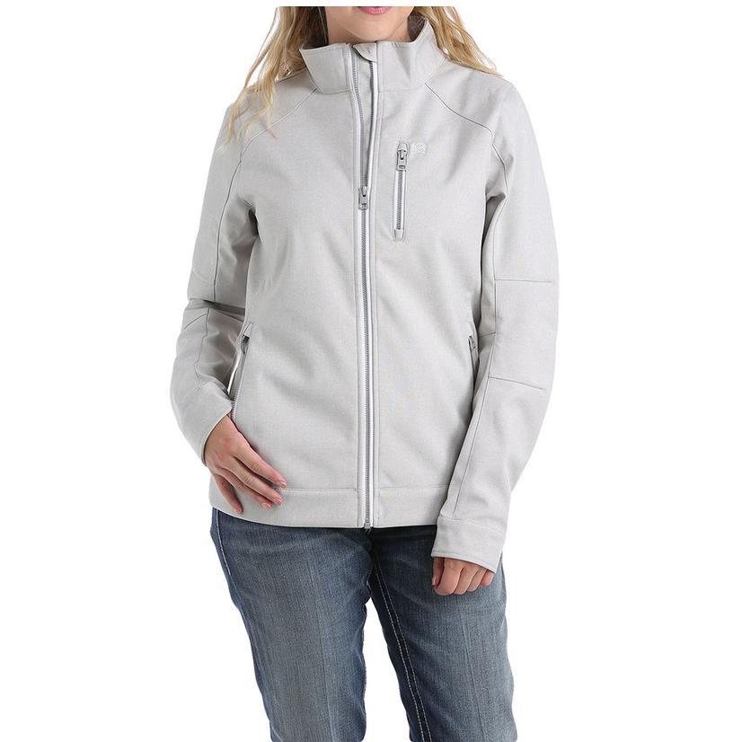 Cinch Heather Grey Cream Bonded Women's Jacket