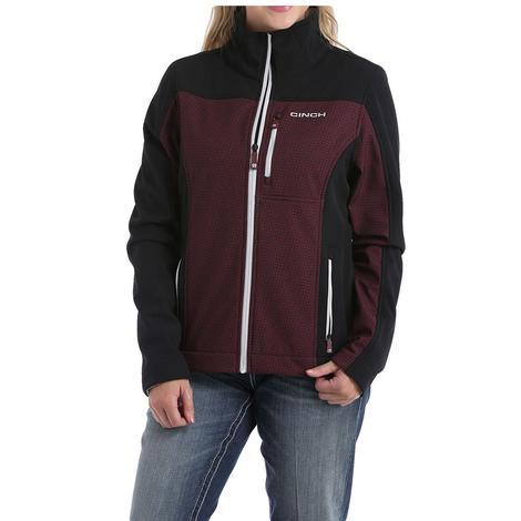 Cinch Black Maroon Bonded Women's Jacket