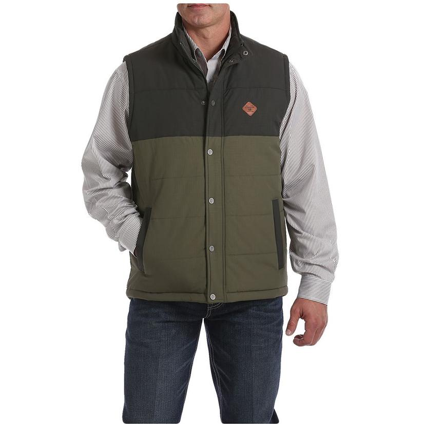 Cinch Grey Olive Puffer Men's Vest