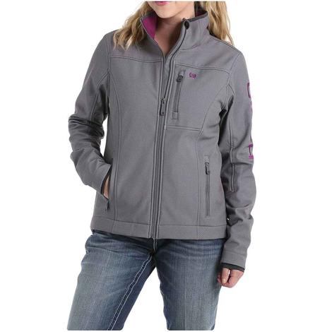 Cinch Grey Purple Conceal Carry Women's Bonded Jacket