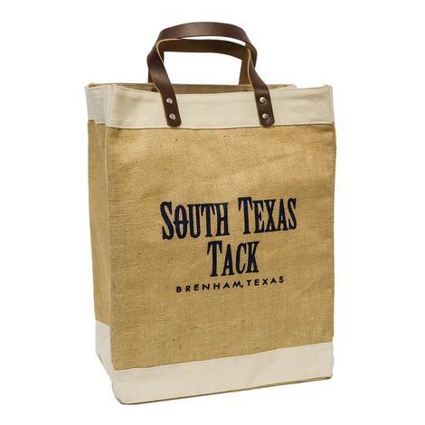 South Texas Tack Tan Jute Tote Bag