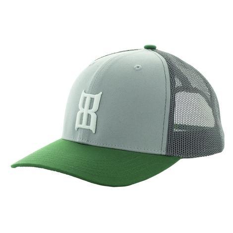 BEX Glow Green Grey Kids Meshback Cap