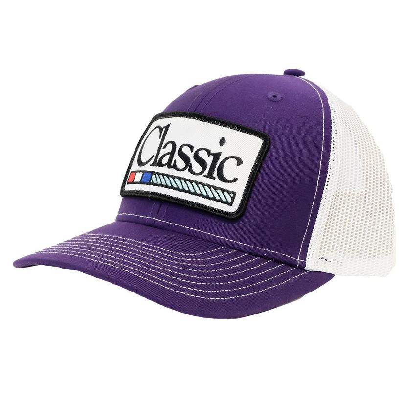 Classic Ropes Purple White Meshback Cap