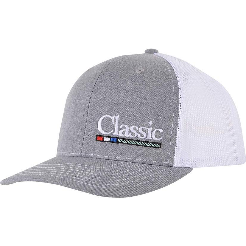 Stt Rope Grey White Meshback Cap