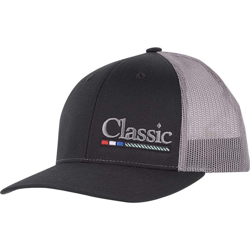 Classic Rope Grey Black Meshback Cap