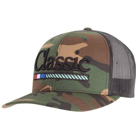Classic Rope Camo Black Meshback Cap