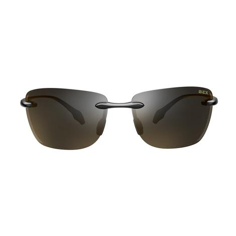 BEX Jaxyn X Glossy Black Brown Sunglasses