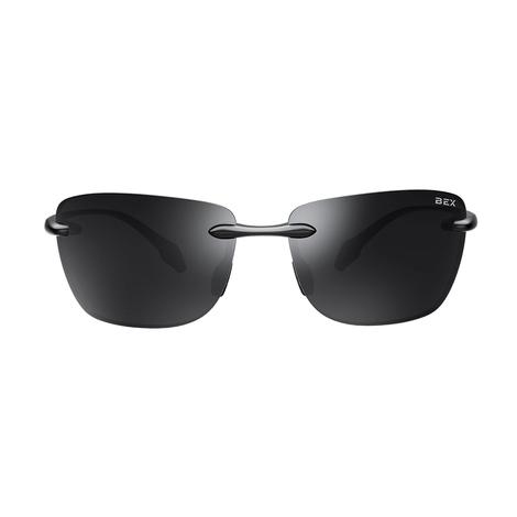 BEX Jaxyn X Glossy Black Grey Sunglasses