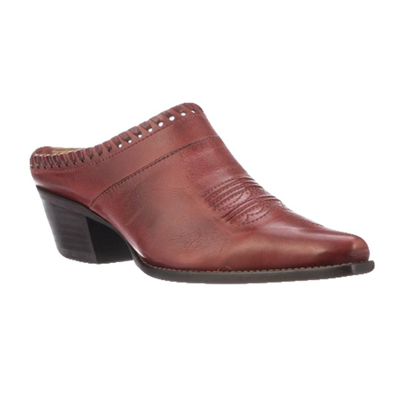 Lucchese Kim Red Low Heel Women's Mule