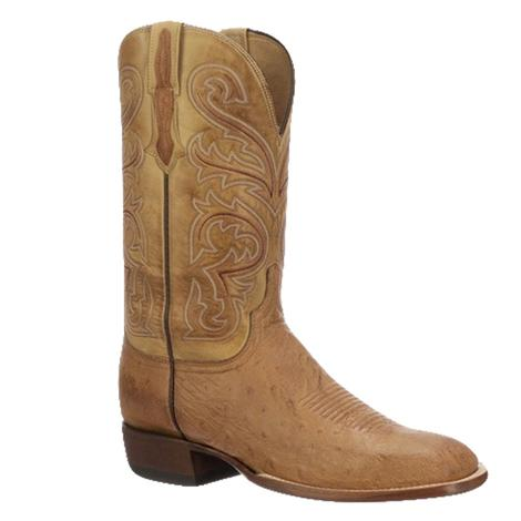 Lucchese Lance Barnwood Smooth Ostrich Men's Boots