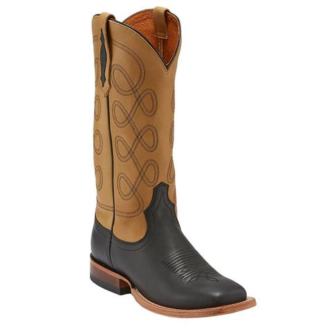 Tony Lama Raven Vaca Buckskin Women's Boots