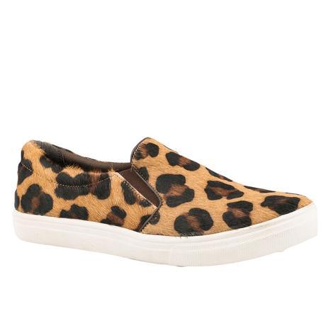 Roper Mane Cheetah Hair on Hide Women's Slip On Shoe