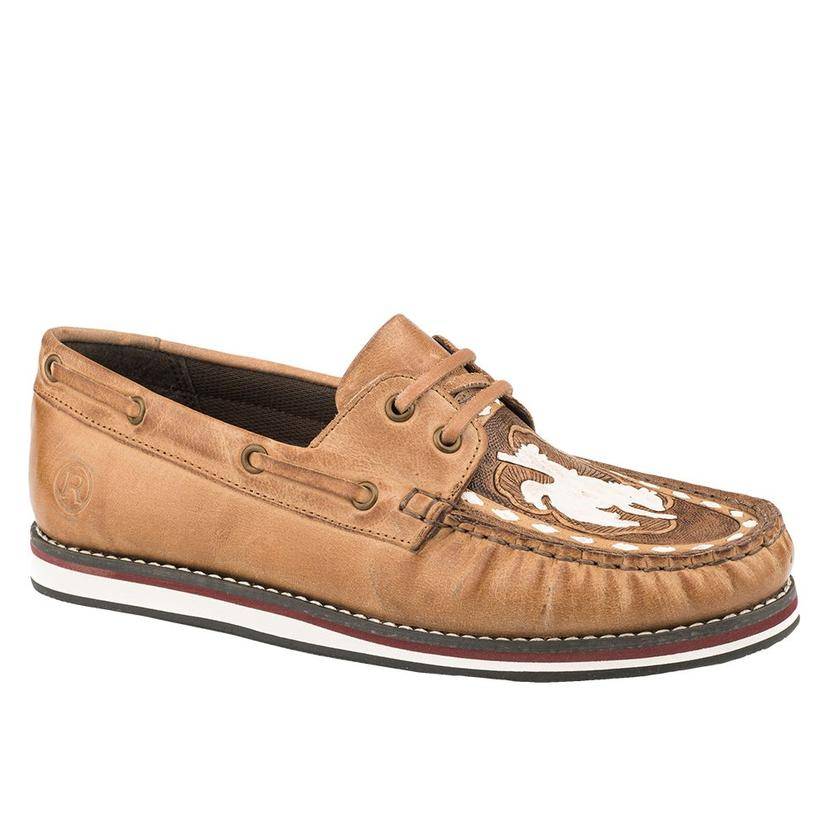 Roper Filly Tan Bronc Rider Lace Up Women's Moc