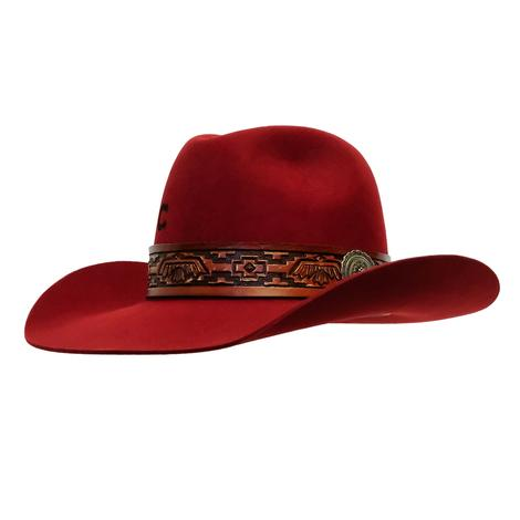 Charlie 1 Horse Chief Red Felt Hat