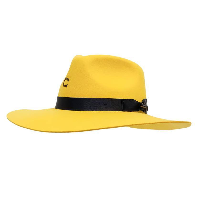 Charlie 1 Horse Highway Felt Hat In Yellow