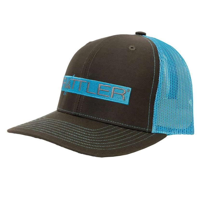 Rattler Neon Blue Charcoal Meshback Cap