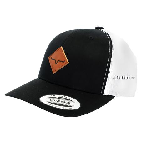 Kimes Ranch Diamond Black and White Meshback Cap