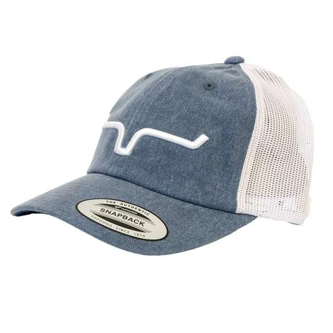 Kimes Ranch Crusher Blue and White Meshback Cap