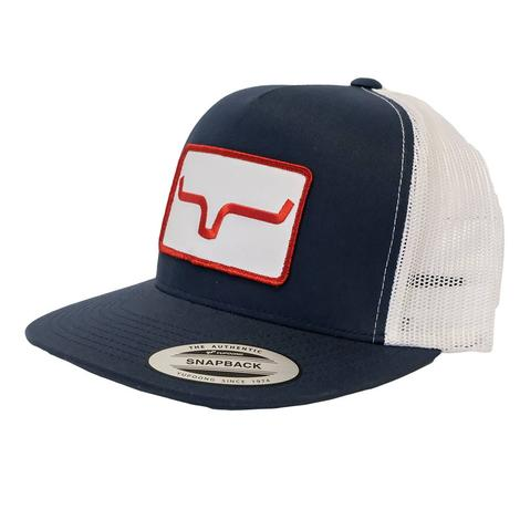 Kimes Ranch Banner Ventilated Navy White Meshback Cap