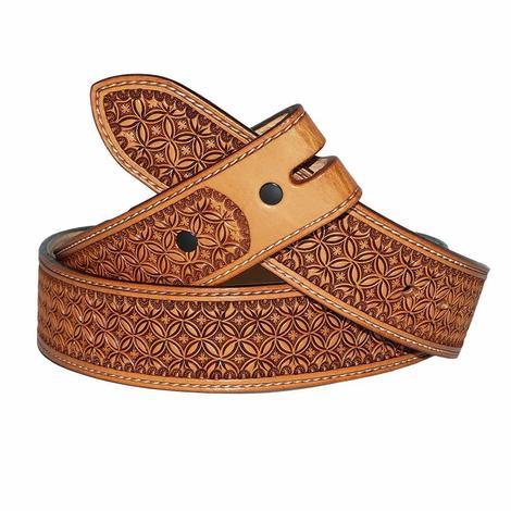 STT Custom Stamped Leather Men's Tan Belt