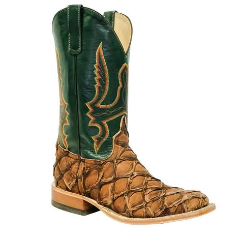STT Anderson Bean Big Bass Brown with Green Velvet Kid Top Men's Boots