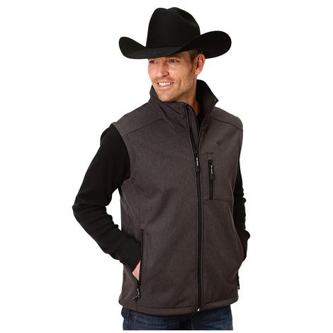 Roper Grey Softshell Bonded Men's Vest