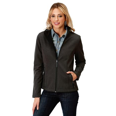 Roper Grey Softshell Bonded Women's Zip Up Jacket