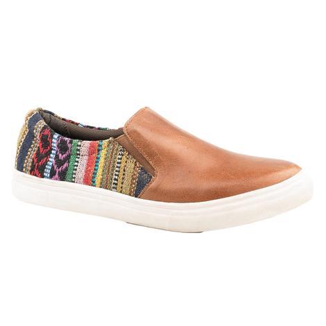 Roper Brown Aztec Women's Slip On Shoe
