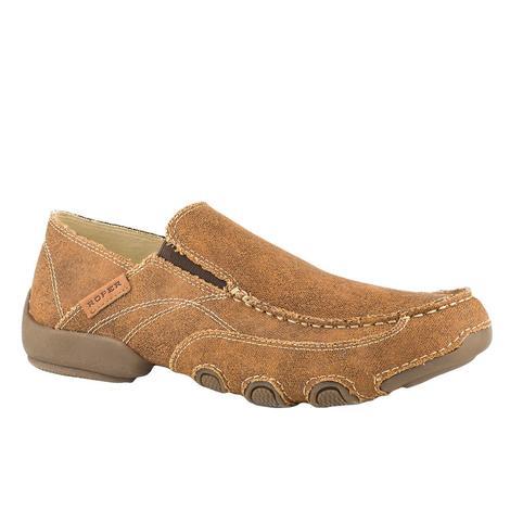Roper Dougie Vintage Brown Slip On Men's Shoe