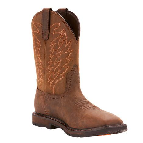 Ariat Groundbreaker Wide Square Pull On Men's Boots