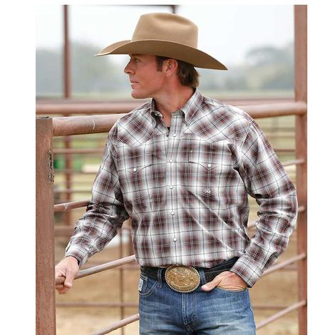 Miller Navy Plaid Western Button Down Long Sleeve Men's Shirt
