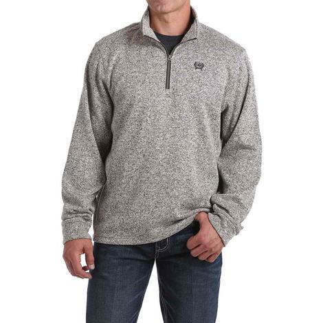 Cinch Quarter Zip Grey Knit Men's Pullover