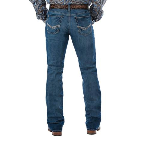 Cinch Ian Mid Rise Slim Fit Boot Cut Medium Wash Men's Jeans