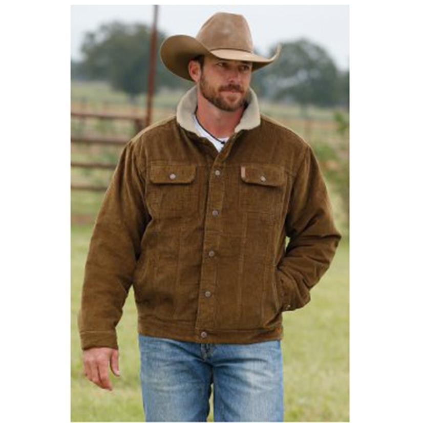 Cinch Brown Corduroy Fleece Lined Trucker Jacket
