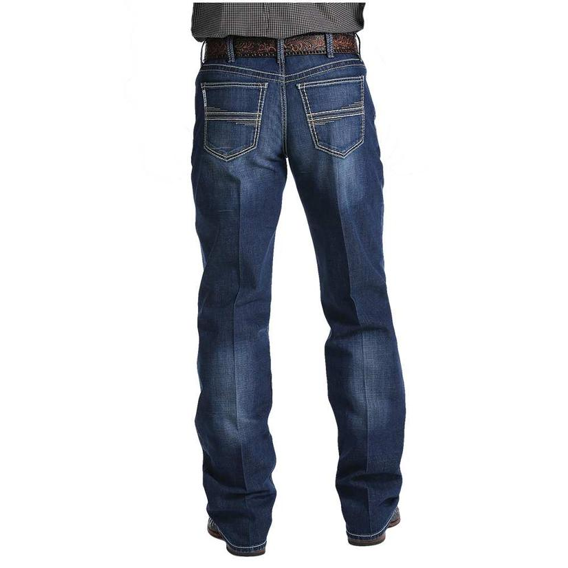 Cinch White Label Relaxed Fit Performance Dark Stonewash Men's Jeans