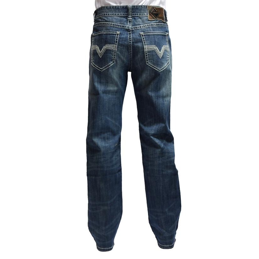 Rock And Roll Cowboy Double Barrel Straight Medium Vintage Wash Men's Jeans