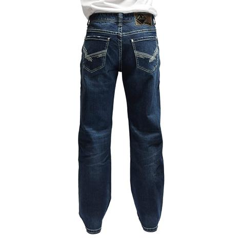 Rock and Roll Cowboy Double Barrel Straight Dark Wash Men's Jeans