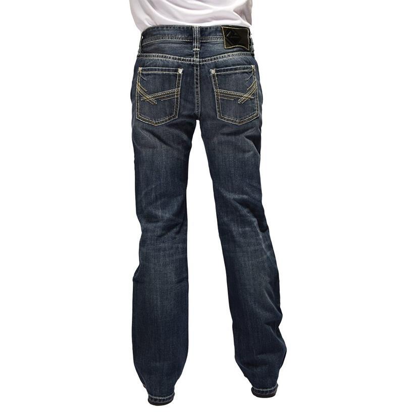 Rock And Roll Cowboy Pistol Straight Medium Vintage Wash Men's Jeans