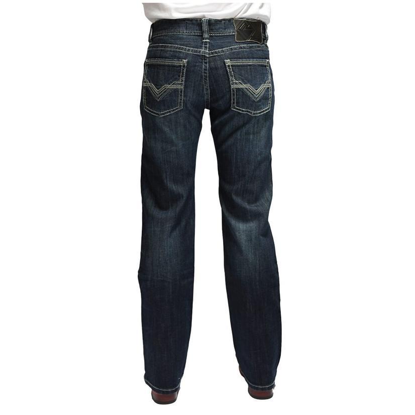Rock And Roll Cowboy Pistol Straight Dark Wash Men's Jeans