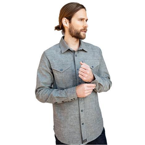 Kimes Ranch Hud Black Chambray Long Sleeve Button Down Men's Shirt