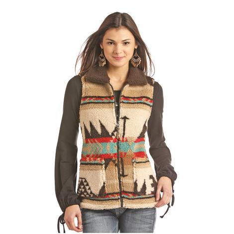 STT Multi Colored Shearling Women's Vest