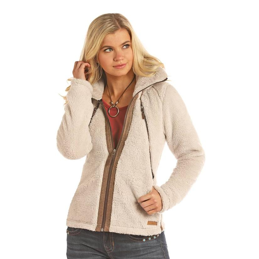 Powder River Natural Soft Fleece Zip Up Women's Jacket