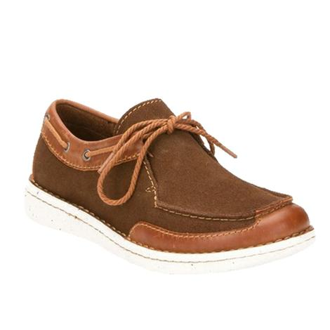 Justin Chocolate Tan Suede Women's Boat Shoe