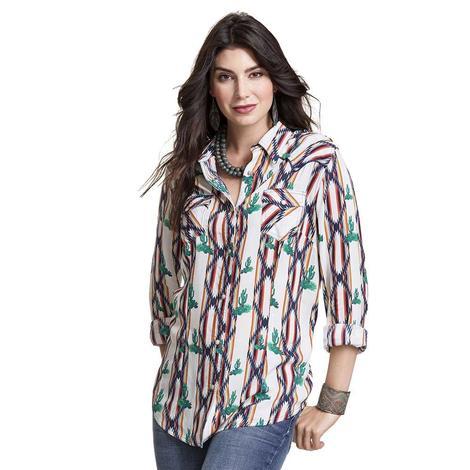 Wrangler Jeans Cactus Stripe Western Snap shirt