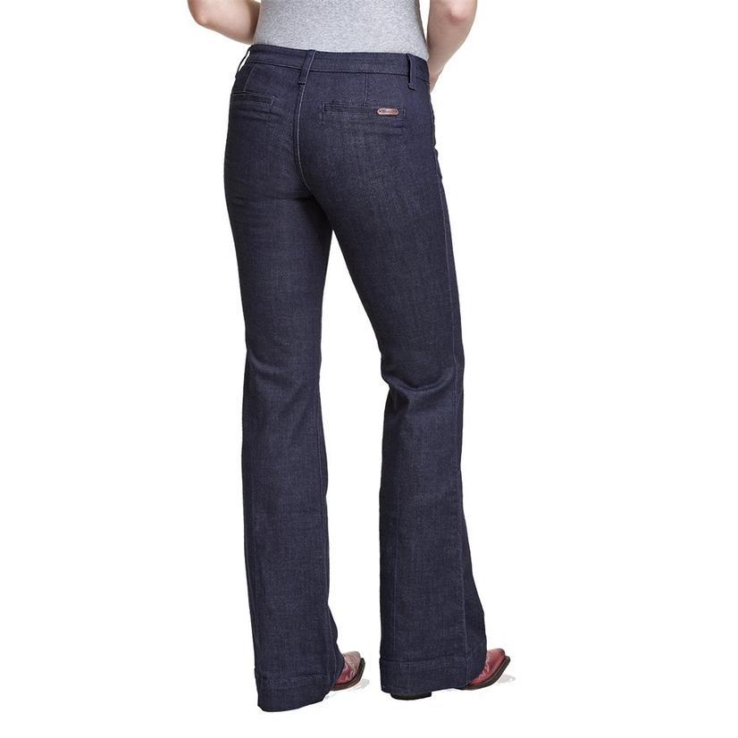 Wrangler Dark Wash Women's Trouser Jeans