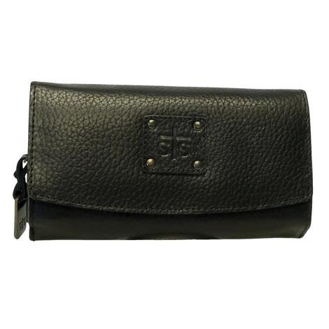 STT Ranchwear Black Cassie Trifold Wallet