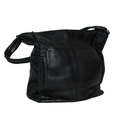 Day and Mood Black Leather Pixie Hobo Bag