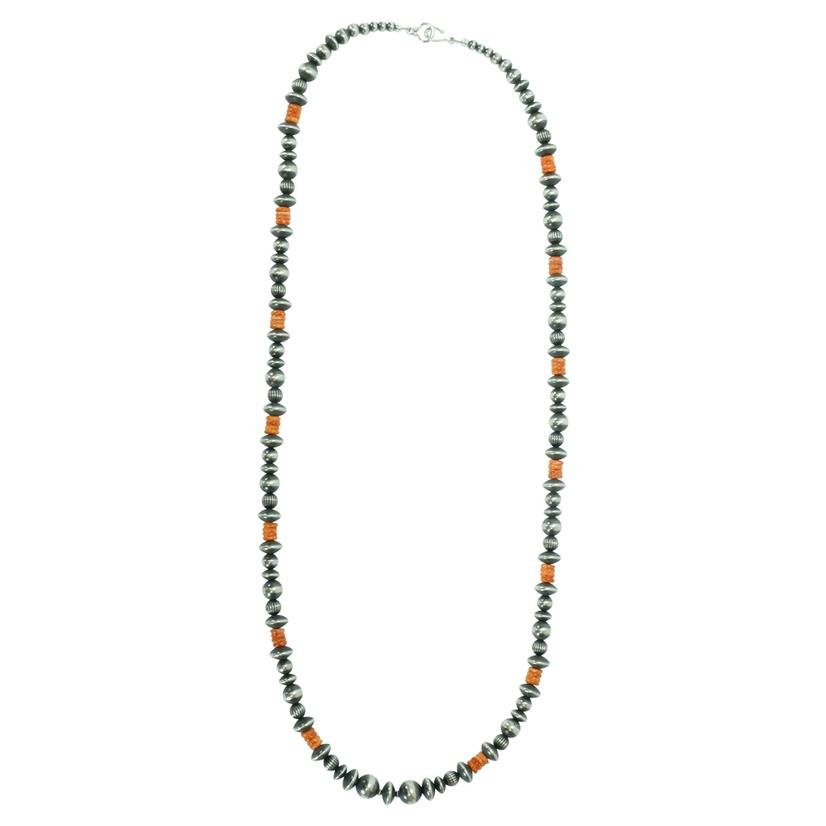 Navajo Pearl And Spiny Oyster Necklace